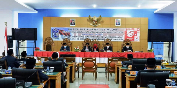 DPRD Bengkulu Utara Paripurna Dengar Pidato Kenegaraan Presiden RI