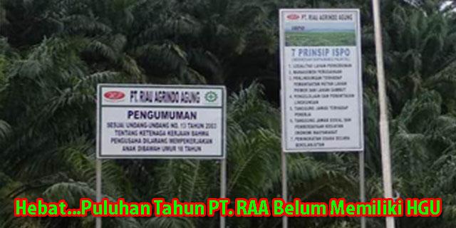 Pihak Perusahaan Perkebunan Sawit PT.RAA Dinilai Ingkar Janji