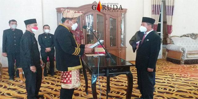 Bupati Bengkulu Utara Lantik Kadis Kominfo Jadi Kepala Satpol PP